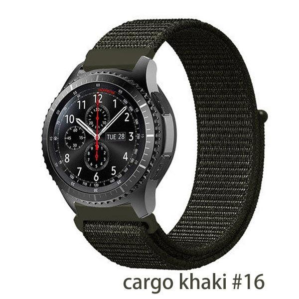Watchbands cargo khaki 16 / 20mm Gear s3 Frontier strap For Samsung galaxy watch 46mm 42mm active 2 nylon 22mm watch band huawei watch gt strap amazfit bip 20 44