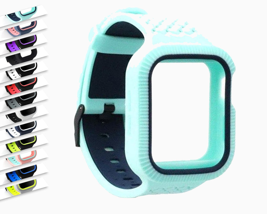 Watchbands Case+watch strap For Apple watch band 44 mm/40mm iWatch band 42mm 38mm Woven Silicone watchband bracelet Apple watch 5 4 3 2 1 40