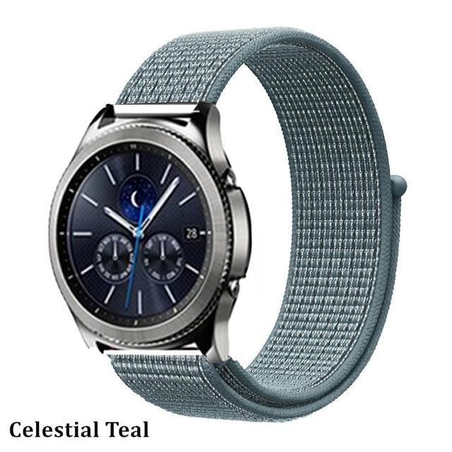 Watchbands cclcstial teal 29 / 20mm Gear s3 Frontier strap For Samsung galaxy watch 46mm 42mm active 2 nylon 22mm watch band huawei watch gt strap amazfit bip 20 44