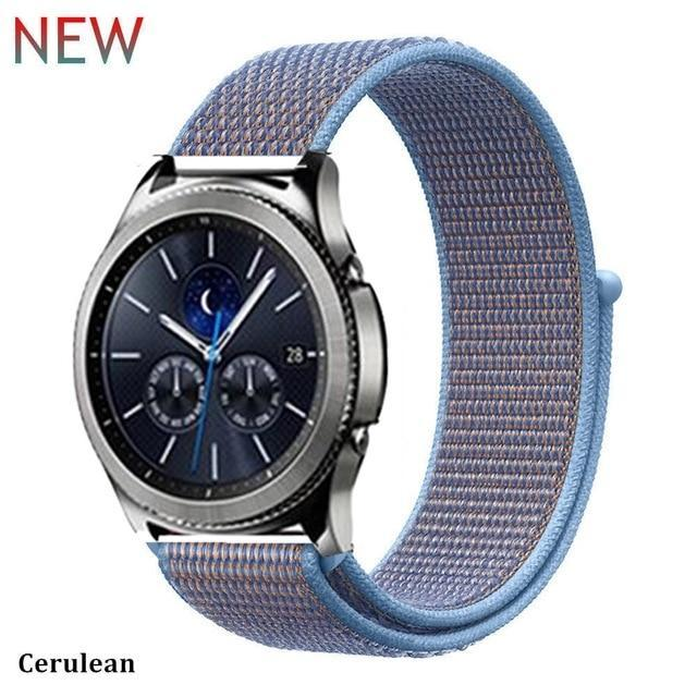 Watchbands ccrulcan 35 / 20mm Gear s3 Frontier strap For Samsung galaxy watch 46mm 42mm active 2 nylon 22mm watch band huawei watch gt strap amazfit bip 20 44