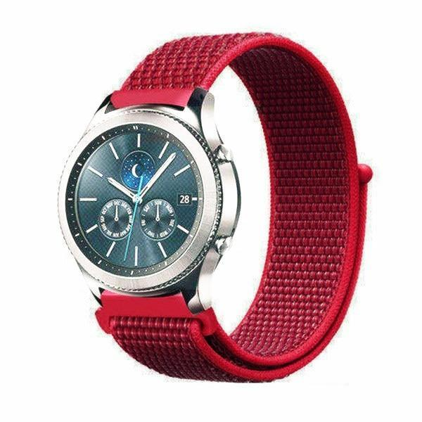 Watchbands china red 28 / 20mm Gear s3 Frontier strap For Samsung galaxy watch 46mm 42mm active 2 nylon 22mm watch band huawei watch gt strap amazfit bip 20 44
