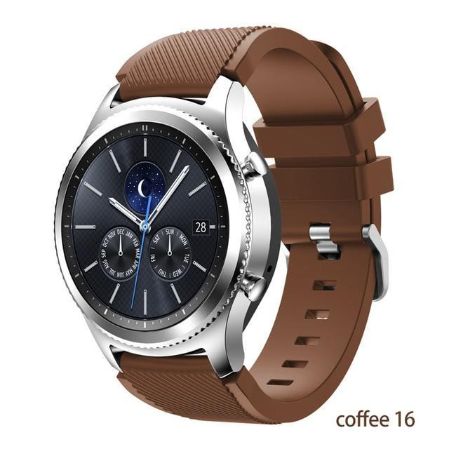 Watchbands coffee 16 / 22mm 20 22mm watch band For Samsung Galaxy watch 46mm 42mm active 2 gear S3 Frontier strap huawei watch GT 2 strap amazfit bip 47 44