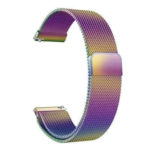 Watchbands colors / 22mm 20mm/22mm Universal Milanes loop strap Magnetic Closure Stainless Steel Watch Band Quick Release metal smartwatch bracelet belt
