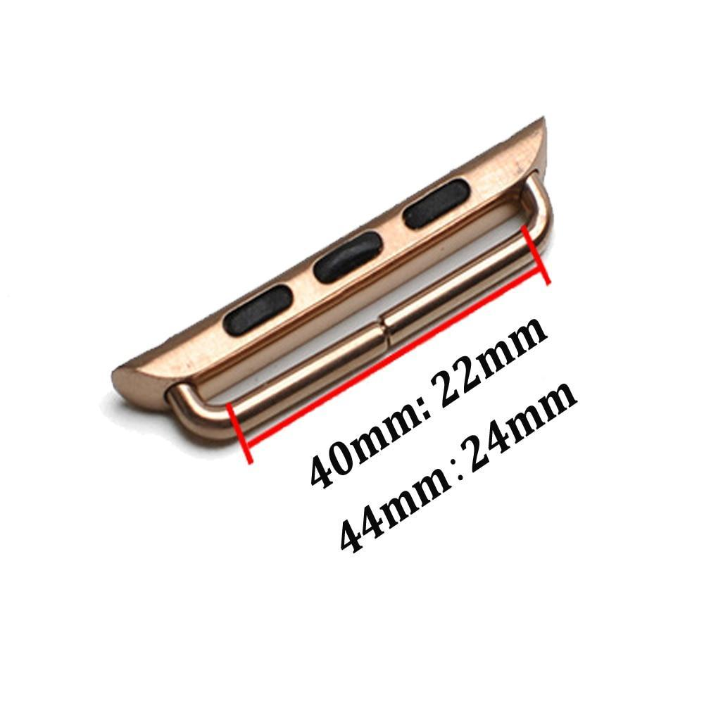 Watchbands Connector Adapter For Apple watch 4 band strap 44mm 40mm iwatch series 4 Metal Stainless Steel Accessories with tool
