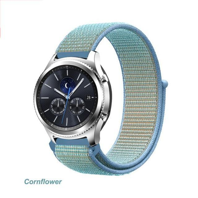 Watchbands Cornflower 42 / 20mm Gear s3 Frontier strap For Samsung galaxy watch 46mm 42mm active 2 nylon 22mm watch band huawei watch gt strap amazfit bip 20 44