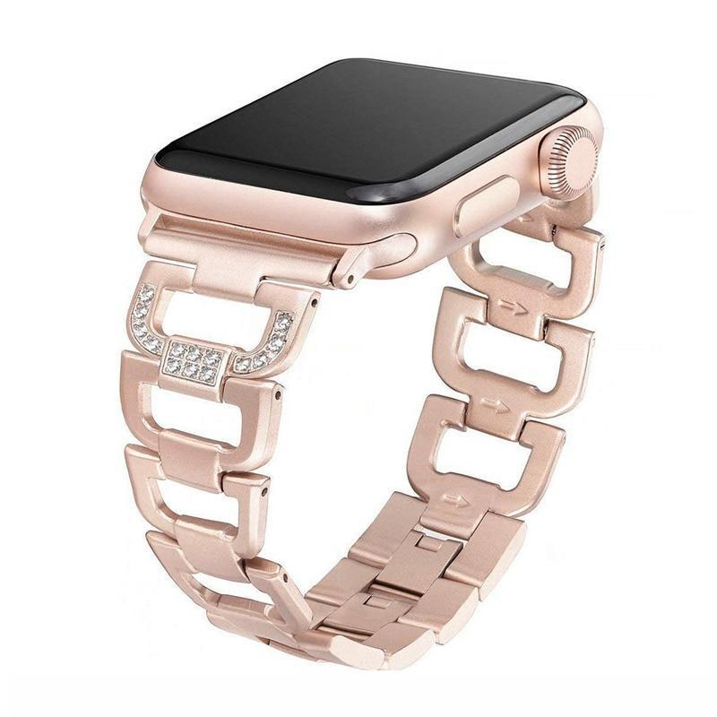 Watchbands D Link Bracelet for Apple watch band strap Apple watch 4 band 44mm 40mm 42mm 38mm Stainless Steel metal strap for iWatch 5 4 3 2 1
