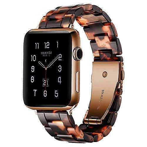 Watchbands Daimao / 42mm/44mm Resin Strap For Apple watc0h 5 4 44mm 40mm iwatch band 42mm 38mm stainless steel buckle Watchband bracelet Apple watch 5 4 3 2 1