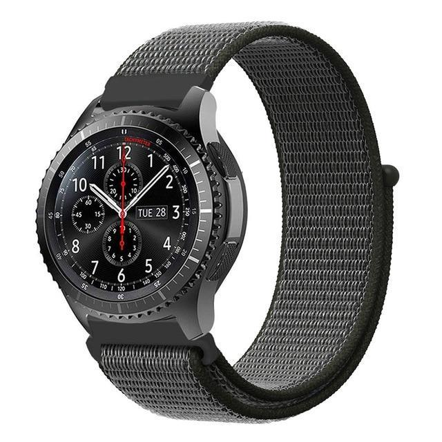 Watchbands dark olive 8 / 20mm Gear s3 Frontier strap For Samsung galaxy watch 46mm 42mm active 2 nylon 22mm watch band huawei watch gt strap amazfit bip 20 44