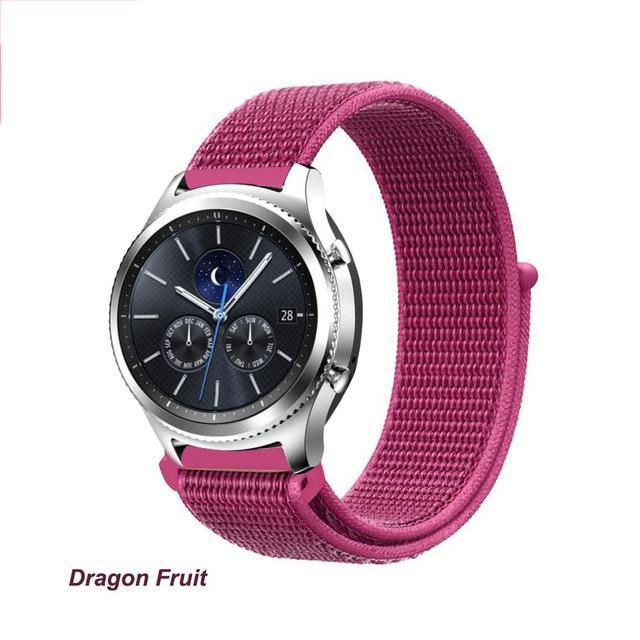 Watchbands Dragon Fruit 41 / 20mm Gear s3 Frontier strap For Samsung galaxy watch 46mm 42mm active 2 nylon 22mm watch band huawei watch gt strap amazfit bip 20 44
