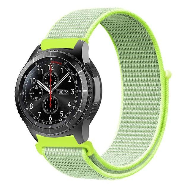 Watchbands flash light 12 / 20mm Gear s3 Frontier strap For Samsung galaxy watch 46mm 42mm active 2 nylon 22mm watch band huawei watch gt strap amazfit bip 20 44