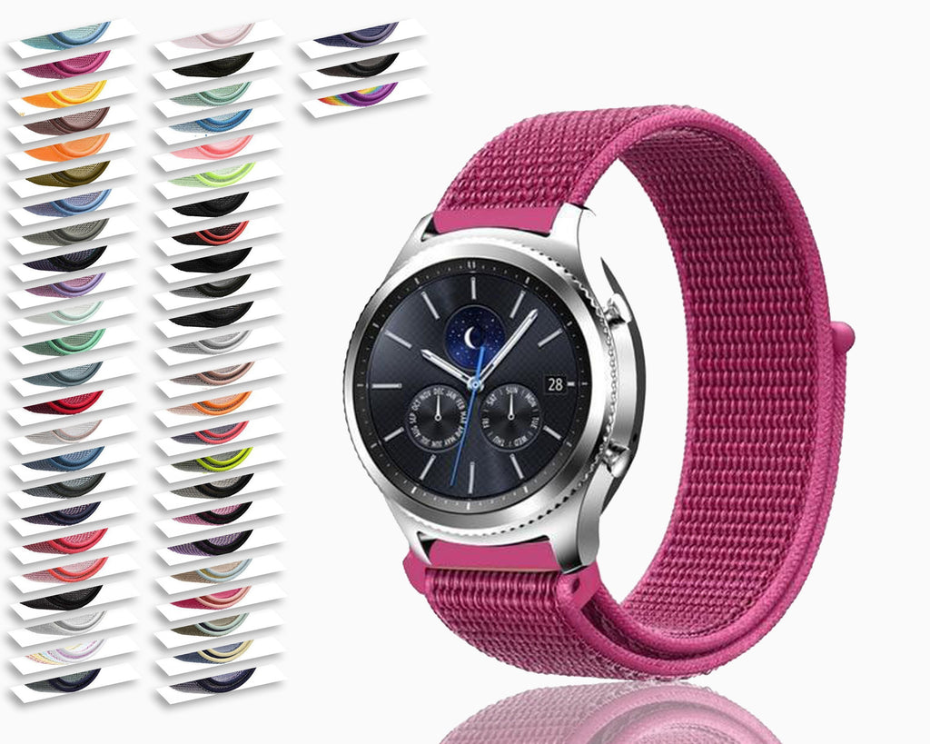 Watchbands Gear s3 Frontier strap For Samsung galaxy watch 46mm 42mm active 2 nylon 22mm watch band huawei watch gt strap amazfit bip 20 44