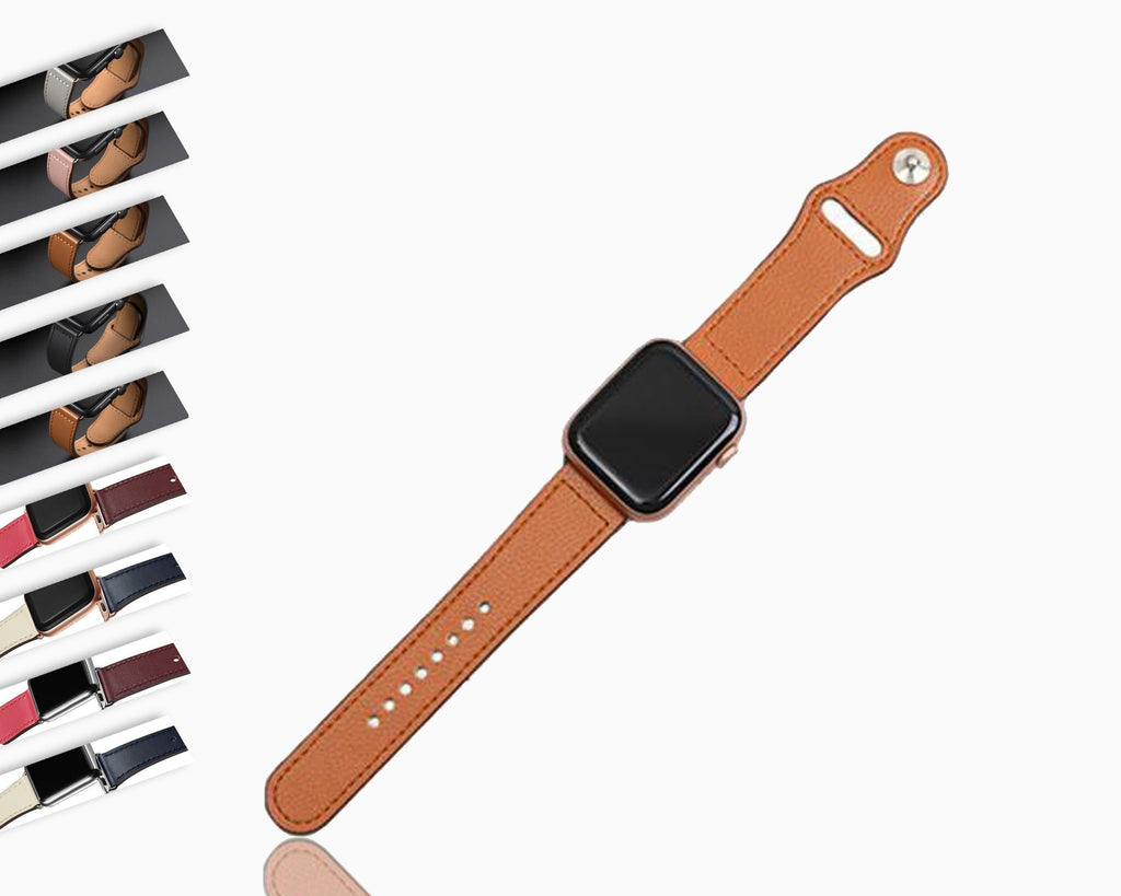 Watchbands Genuine leather loop strap for apple watch band 42mm 44mm apple watch 5/4 38mm 40mm iwatch 3/2/1 correa replacement bracelet