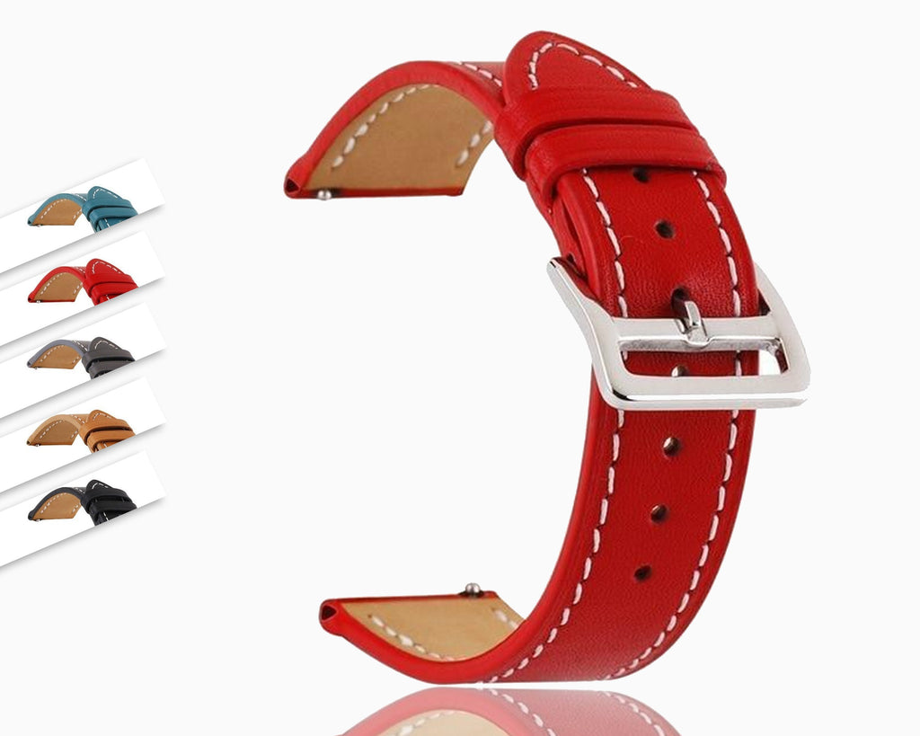 Watchbands Genuine Leather Watch Band Classic Quick Release Strap Choice Of Width 18mm/20mm/22mm/24mm Wristwatch Replacement Accessories|Watchbands|