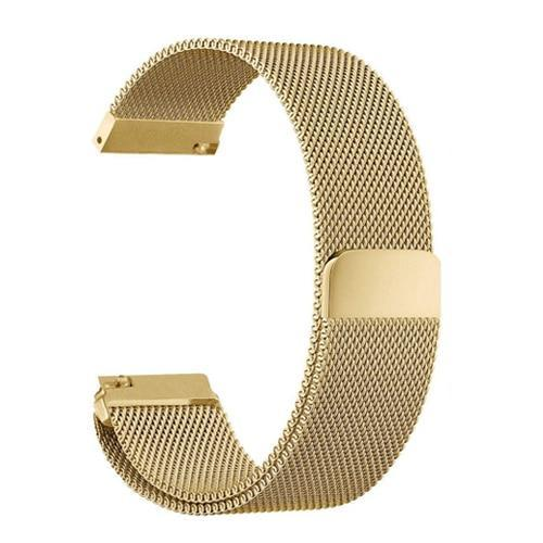 Watchbands gold / 22mm 20mm/22mm Universal Milanes loop strap Magnetic Closure Stainless Steel Watch Band Quick Release metal smartwatch bracelet belt