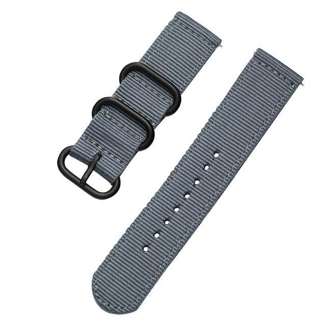 Watchbands gray / 18mm Woven Nylon Watch Sport Strap Band For Samsung Gear S3 S2  Frontier Galaxy watch 46MM 18MM 24MM 22MM 20MM Active watch band