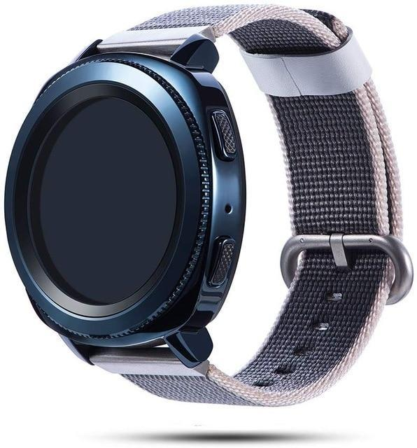 Watchbands gray / 20mm Woven nylon band for Samsung Galaxy Watch 46mm 42mm Active 2 Huawei GT 2 strap Magic Huami Amazfit Bracelet watch Band 22mm 20mm