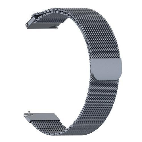 Watchbands gray / 22mm 20mm/22mm Universal Milanes loop strap Magnetic Closure Stainless Steel Watch Band Quick Release metal smartwatch bracelet belt