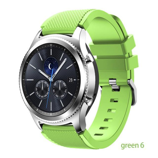 Watchbands green 6 / 22mm 20 22mm watch band For Samsung Galaxy watch 46mm 42mm active 2 gear S3 Frontier strap huawei watch GT 2 strap amazfit bip 47 44