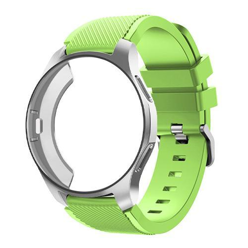 Watchbands green 6 / Galaxy watch 42mm Case+20mm watch strap For Samsung gear S3 Frontier 46mm huawei watch GT strap 22mm watch band amazfit bip strap+protective case