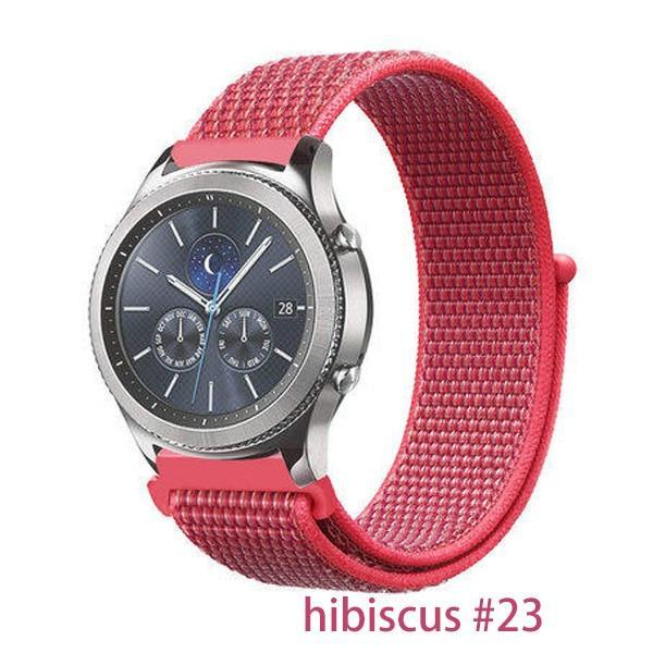 Watchbands hibiscus 23 / 20mm Gear s3 Frontier strap For Samsung galaxy watch 46mm 42mm active 2 nylon 22mm watch band huawei watch gt strap amazfit bip 20 44
