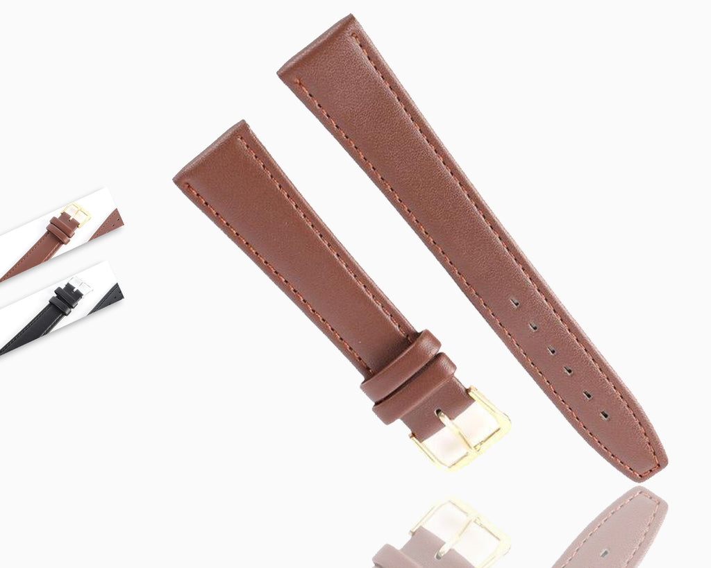 Watchbands Hot Women Men Durable Soft Pin Buckle Watch Strap PU Leather Watchband Black Coffee 12/14/16/18/20 mm|Watchbands|