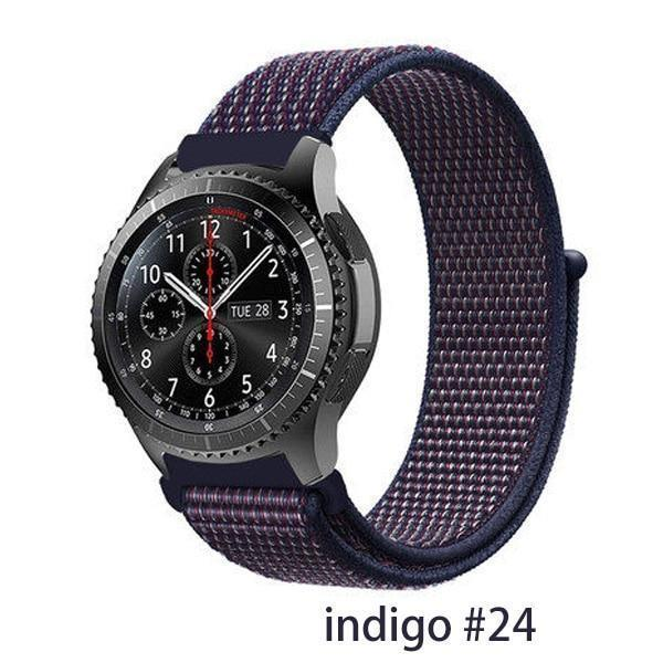 Watchbands indigo 24 / 20mm Gear s3 Frontier strap For Samsung galaxy watch 46mm 42mm active 2 nylon 22mm watch band huawei watch gt strap amazfit bip 20 44