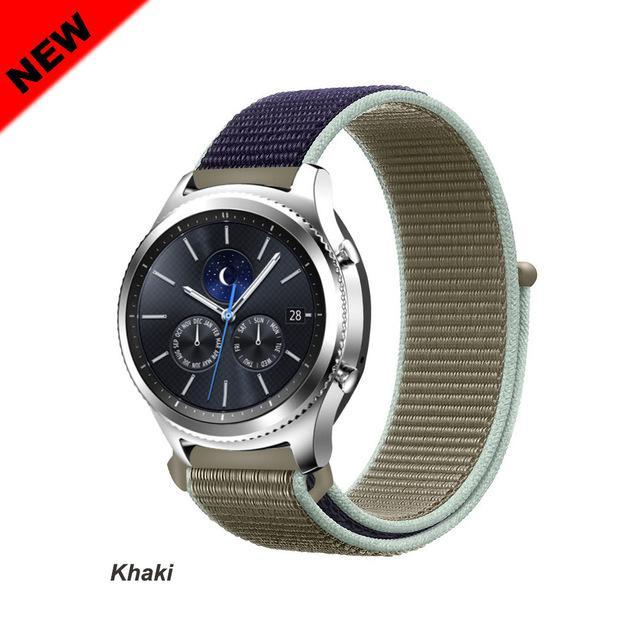 Watchbands Khaki 46 / 20mm Gear s3 Frontier strap For Samsung galaxy watch 46mm 42mm active 2 nylon 22mm watch band huawei watch gt strap amazfit bip 20 44