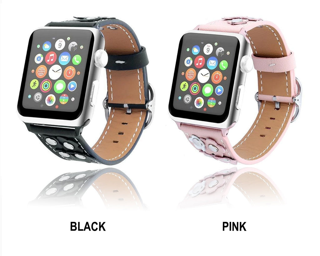 Watchbands Leather strap For Apple watch band apple watch 5 4 3 band 42mm/44mm 38mm/40mm correa iwatch band stainless steel belt bracelet