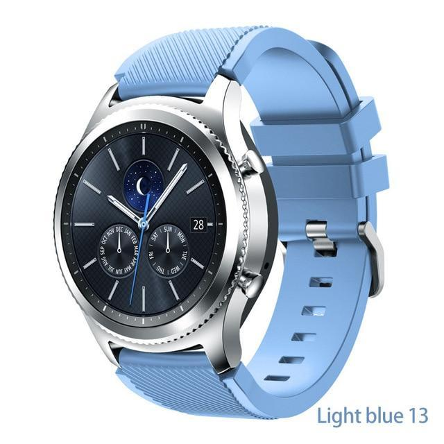 Watchbands Light blue 13 / 22mm 20 22mm watch band For Samsung Galaxy watch 46mm 42mm active 2 gear S3 Frontier strap huawei watch GT 2 strap amazfit bip 47 44