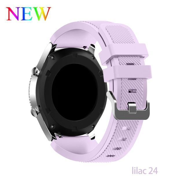 Watchbands lilac 24 / 22mm 20 22mm watch band For Samsung Galaxy watch 46mm 42mm active 2 gear S3 Frontier strap huawei watch GT 2 strap amazfit bip 47 44