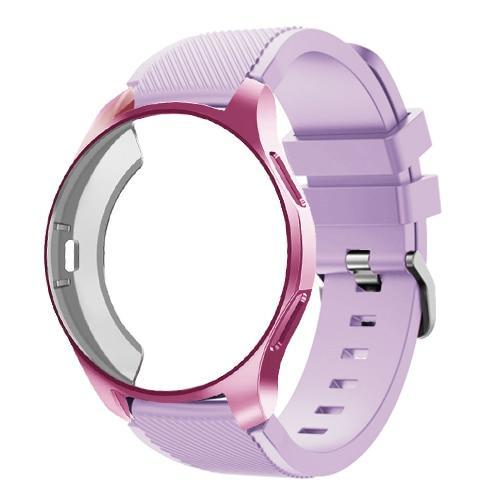 Watchbands lilac 24 / Galaxy watch 42mm Case+20mm watch strap For Samsung gear S3 Frontier 46mm huawei watch GT strap 22mm watch band amazfit bip strap+protective case