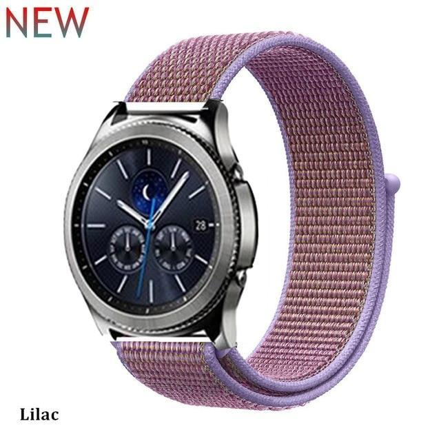 Watchbands lilac 32 / 20mm Gear s3 Frontier strap For Samsung galaxy watch 46mm 42mm active 2 nylon 22mm watch band huawei watch gt strap amazfit bip 20 44