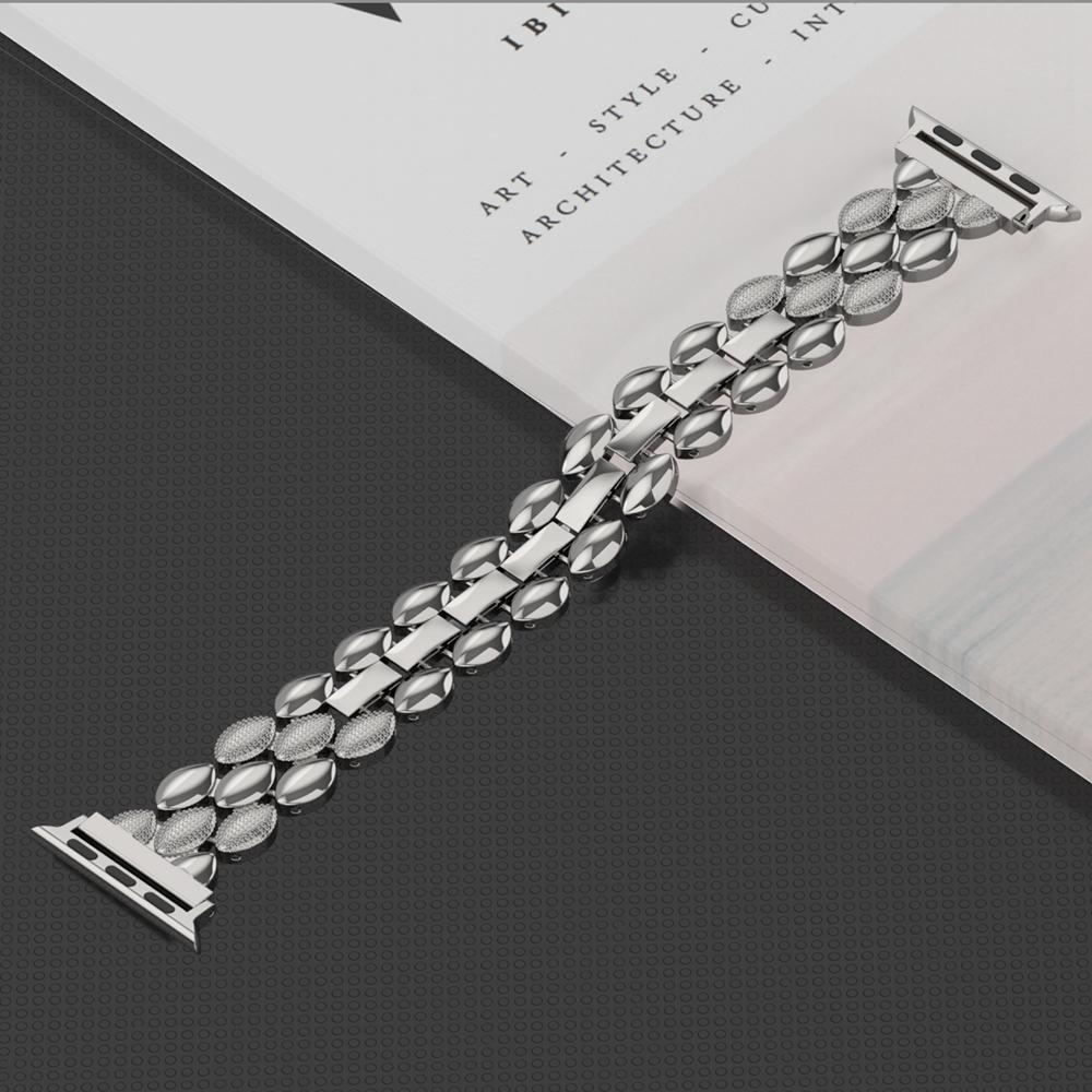 Watchbands Luxury Metal Stainless Steel Band for Apple Watch Bands 38mm 42mm 40mm 44mm Fashion Women Men Strap for iwatch series 5/4/3/2/1