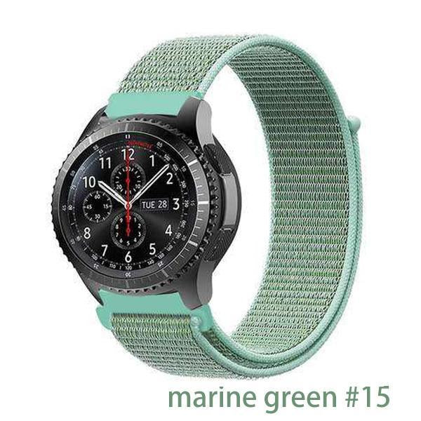 Watchbands marine green 15 / 20mm Gear s3 Frontier strap For Samsung galaxy watch 46mm 42mm active 2 nylon 22mm watch band huawei watch gt strap amazfit bip 20 44
