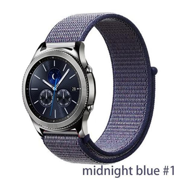 Watchbands midnight blue 1 / 20mm Gear s3 Frontier strap For Samsung galaxy watch 46mm 42mm active 2 nylon 22mm watch band huawei watch gt strap amazfit bip 20 44