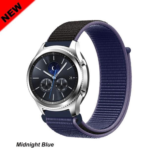 Watchbands Midnight Blue 43 / 20mm Gear s3 Frontier strap For Samsung galaxy watch 46mm 42mm active 2 nylon 22mm watch band huawei watch gt strap amazfit bip 20 44
