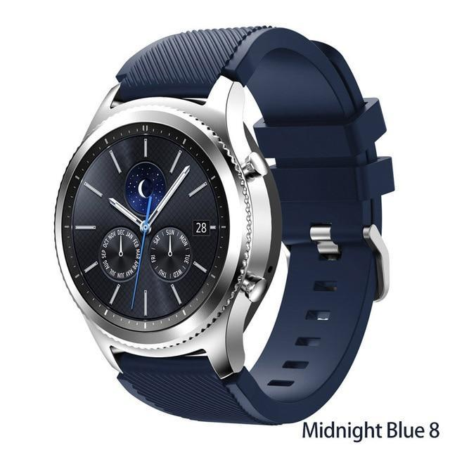 Watchbands Midnight Blue 8 / 22mm 20 22mm watch band For Samsung Galaxy watch 46mm 42mm active 2 gear S3 Frontier strap huawei watch GT 2 strap amazfit bip 47 44