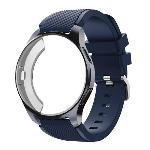 Watchbands Midnight Blue 8 / Galaxy watch 42mm Case+20mm watch strap For Samsung gear S3 Frontier 46mm huawei watch GT strap 22mm watch band amazfit bip strap+protective case