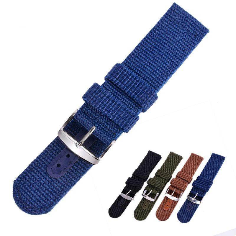 Watchbands Military Army Nylon Wrist Watch Band Sports Outdoor Canvas Thicken Watches Strap