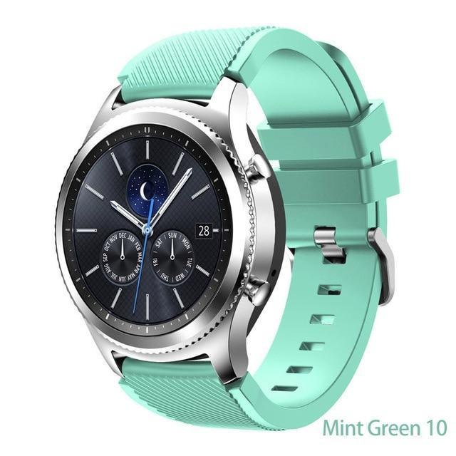 Watchbands Mint Green 10 / 22mm 20 22mm watch band For Samsung Galaxy watch 46mm 42mm active 2 gear S3 Frontier strap huawei watch GT 2 strap amazfit bip 47 44