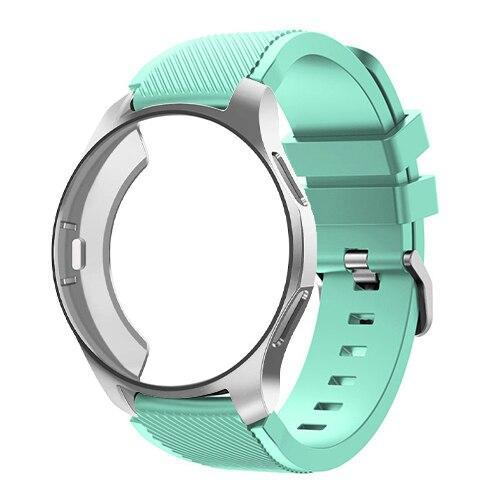 Watchbands Mint Green 10 / Galaxy watch 42mm Case+20mm watch strap For Samsung gear S3 Frontier 46mm huawei watch GT strap 22mm watch band amazfit bip strap+protective case