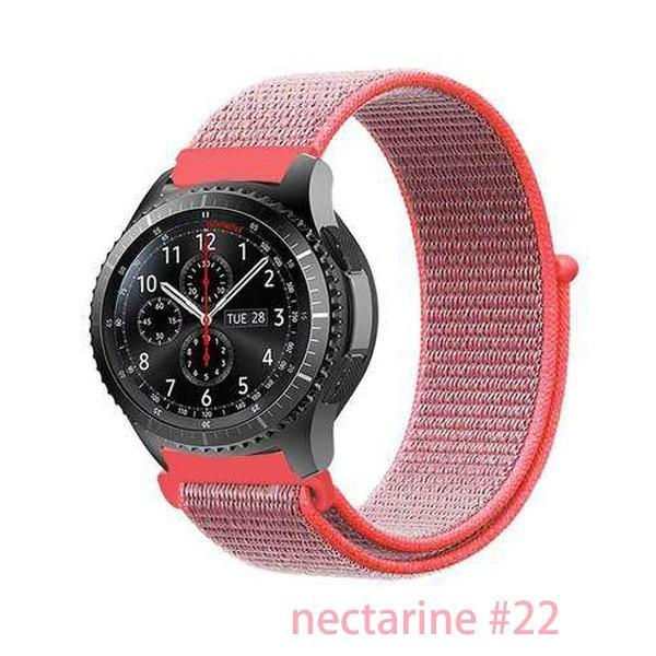 Watchbands nectarine 22 / 20mm Gear s3 Frontier strap For Samsung galaxy watch 46mm 42mm active 2 nylon 22mm watch band huawei watch gt strap amazfit bip 20 44
