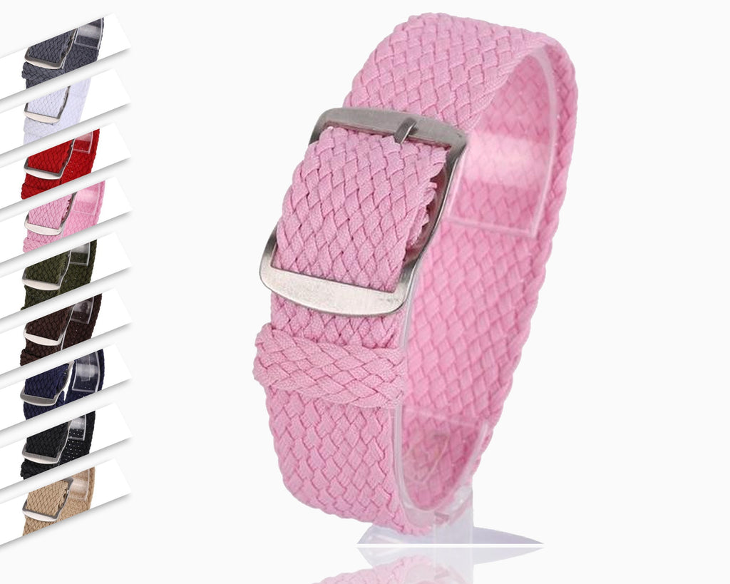 Watchbands New Unisex Watch Band Strap 16 18 20 22 mm Adjustable Nylon Quick Release Wristband Bands Replacement 9Colors Watch Strap T6|Watchbands|