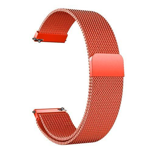Watchbands Orange / 22mm 20mm/22mm Universal Milanes loop strap Magnetic Closure Stainless Steel Watch Band Quick Release metal smartwatch bracelet belt