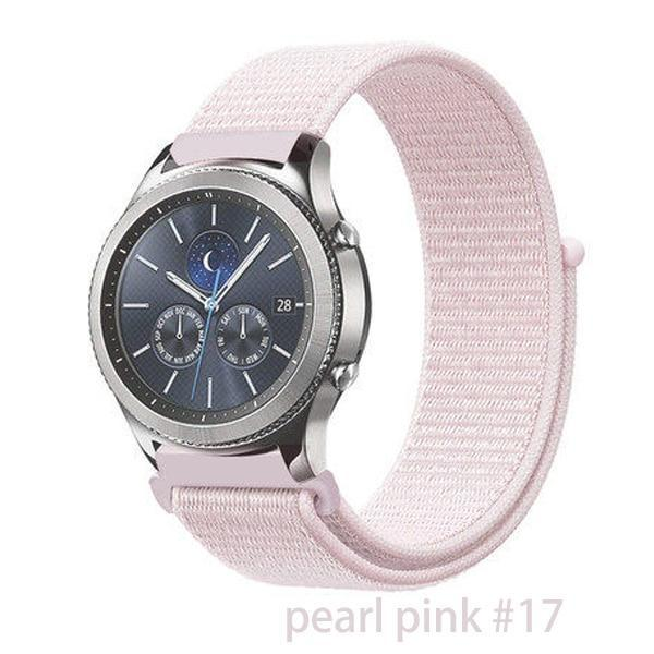 Watchbands pearl pink 17 / 20mm Gear s3 Frontier strap For Samsung galaxy watch 46mm 42mm active 2 nylon 22mm watch band huawei watch gt strap amazfit bip 20 44