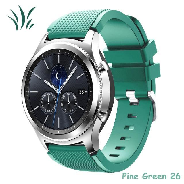 Watchbands pine green 26 / 22mm 20 22mm watch band For Samsung Galaxy watch 46mm 42mm active 2 gear S3 Frontier strap huawei watch GT 2 strap amazfit bip 47 44