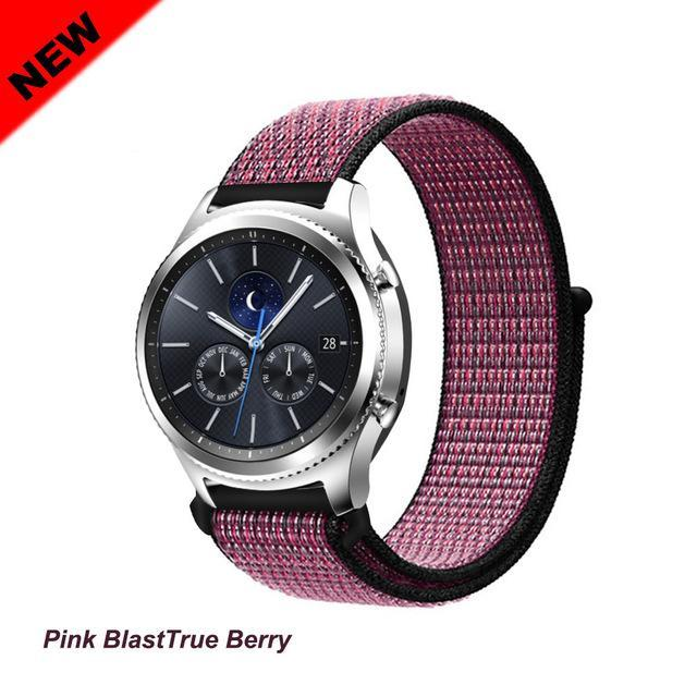 Watchbands Pink Blast 50 / 20mm Gear s3 Frontier strap For Samsung galaxy watch 46mm 42mm active 2 nylon 22mm watch band huawei watch gt strap amazfit bip 20 44