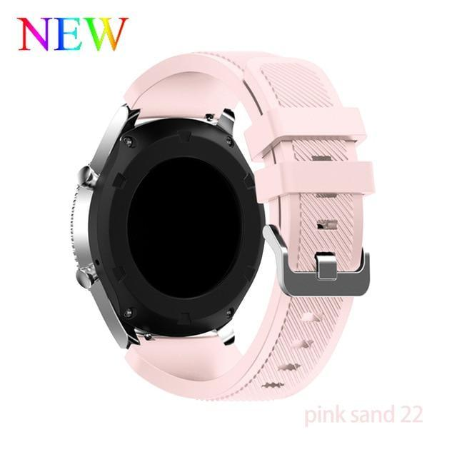 Watchbands pink sand 22 / 22mm 20 22mm watch band For Samsung Galaxy watch 46mm 42mm active 2 gear S3 Frontier strap huawei watch GT 2 strap amazfit bip 47 44