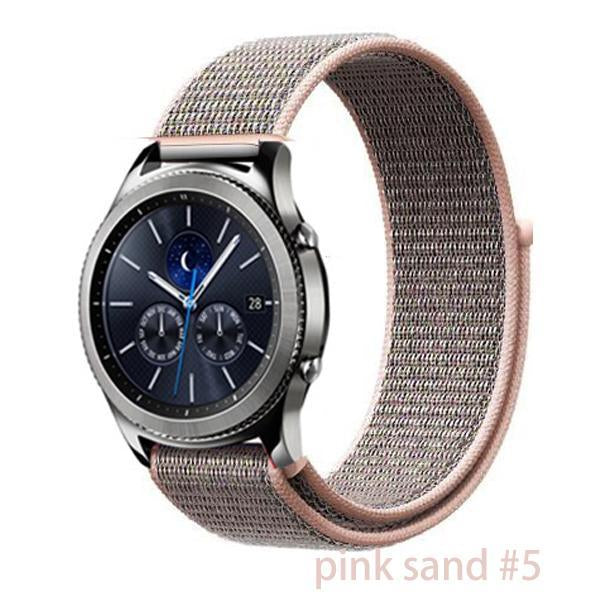 Watchbands pink sand 5 / 20mm Gear s3 Frontier strap For Samsung galaxy watch 46mm 42mm active 2 nylon 22mm watch band huawei watch gt strap amazfit bip 20 44