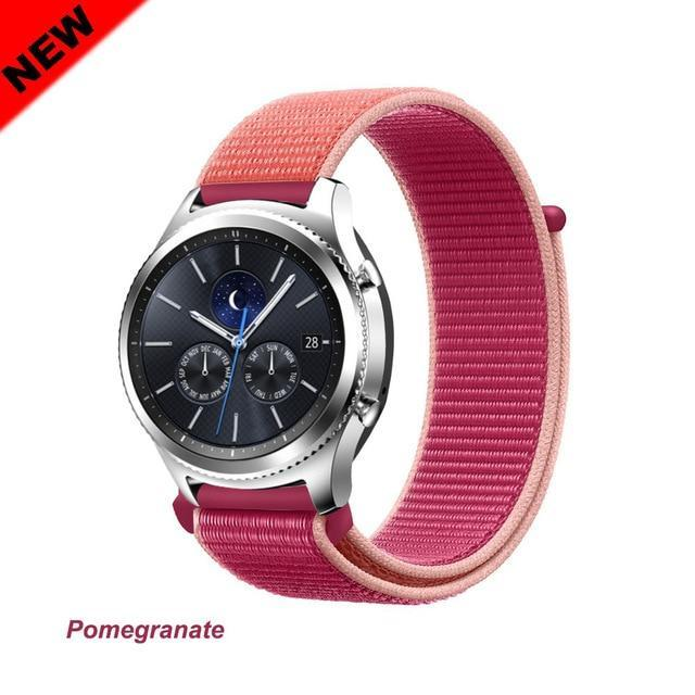 Watchbands Pomegranate 47 / 20mm Gear s3 Frontier strap For Samsung galaxy watch 46mm 42mm active 2 nylon 22mm watch band huawei watch gt strap amazfit bip 20 44